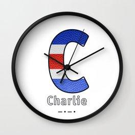 Charlie - Navy Code Wall Clock