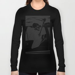 Passenger taxi grim - black and white - gothic reaper Long Sleeve T-shirt