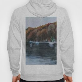 Harbor on the Thames River, CT Hoody