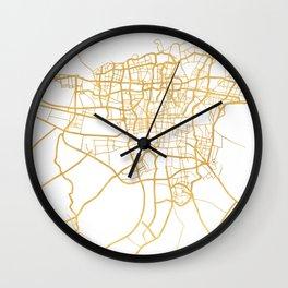 TEHRAN IRAN CITY STREET MAP ART Wall Clock