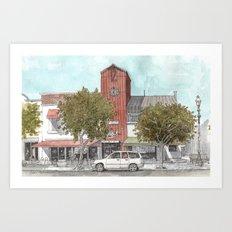 Sketching in Clovis, California Art Print