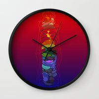 totem Wall Clocks featuring Totem by David Lanham