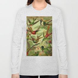 HUMMINGBIRD COLLAGE- Ernst Haeckel Long Sleeve T-shirt