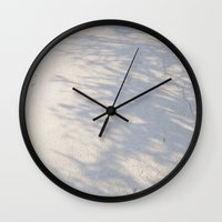 shadow Wall Clocks featuring Shadow by Rose Etiennette