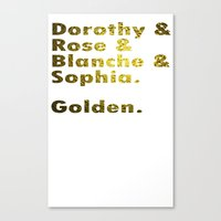 golden girls Canvas Prints featuring Golden girls are awesome by junaputra
