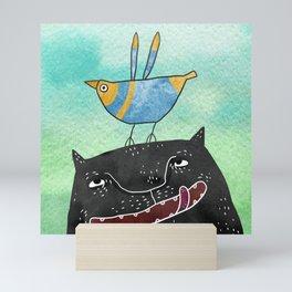 The Blue Bird of Happiness Mini Art Print