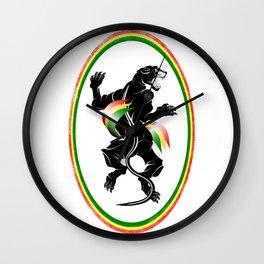 Black Panther Rastafarian Flag Wall Clock