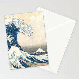 The Great Wave off Kanagawa by Katsushika Hokusai from the series Thirty-six Views of Mount Fuji Stationery Cards