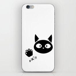 #x°?! Cat iPhone Skin