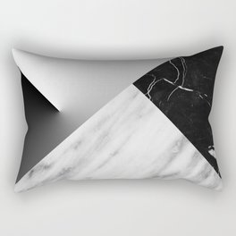 Monochromatic Marble Collage  Rectangular Pillow
