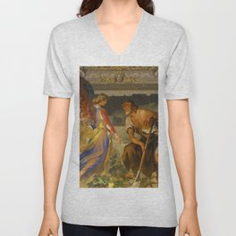 With the grace of God and the effort of will we obtain the excellence of virtue Unisex V-Neck