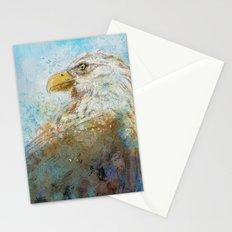 Expressive Bald Eagle Stationery Cards