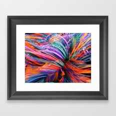 Colorful Trails Framed Art Print