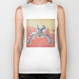 Silver Tectonic Biker Tank