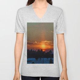 February Sunset Unisex V-Neck