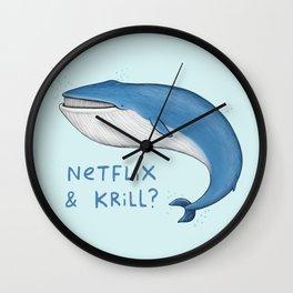 Netflix & Krill Wall Clock