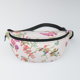 Romantic Pink Flowers Fanny Pack