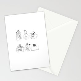 Boudoir Glamour Perfumes Print Stationery Cards