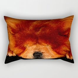 Sleeping Chow Chow Rectangular Pillow