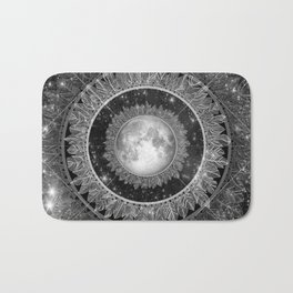 Major Tom (floating in my tin can, far above the Moon) Bath Mat