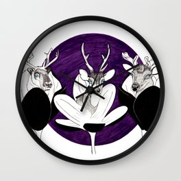 Cervidae in Crocus Wall Clock