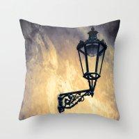 lantern Throw Pillows featuring Lantern by Maria Heyens
