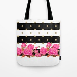 Goldy Flowers Tote Bag