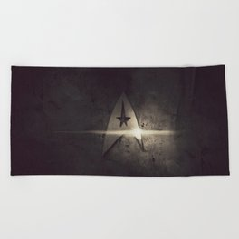 spacecraft logo Beach Towel