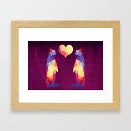 Geometric Bears - Magenta Framed Art Print
