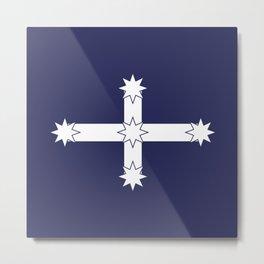 Australian Eureka Flag by Orikall Metal Print