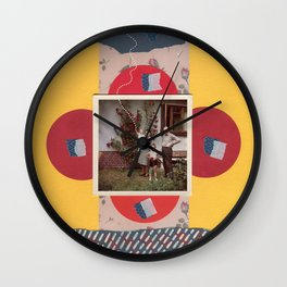 Pointing To The Sky Wall Clock
