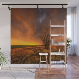 Fascinations - Warm Light and Rumbles of Thunder in Oklahoma Wall Mural
