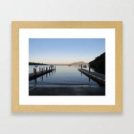 Sunset at Lake Taupo Framed Art Print