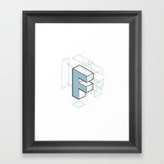The Exploded Alphabet / F Framed Art Print