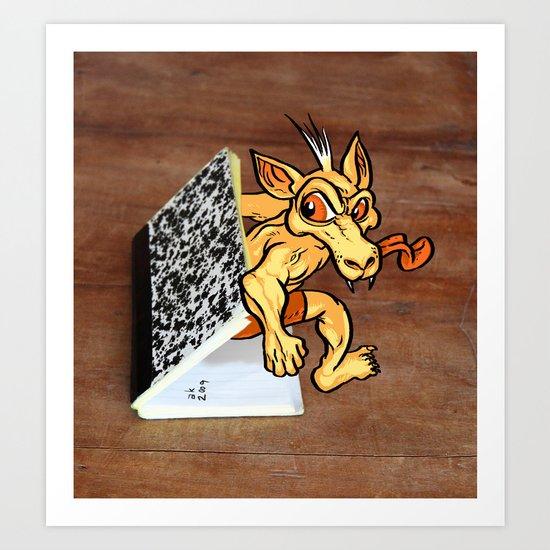 Notebook Monster Art Print