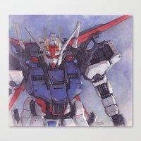 gundam Canvas Prints featuring Strike Gundam by Hector Trunnec