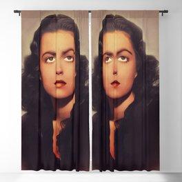 Faith Domergue, Vintage Actress Blackout Curtain