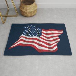 American Pride USA Flag Waving Rug