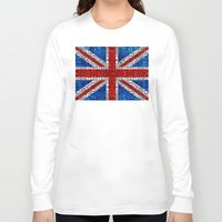 british flag Long Sleeve T-shirts featuring British Flag - Brittain England Stone Rock'd Art by Sharon Cummings
