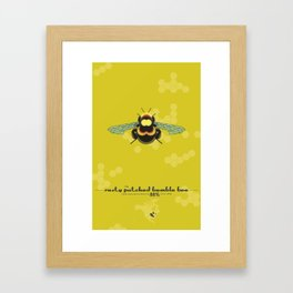 Endangered: The Rusty Patched Bumble Bee Framed Art Print
