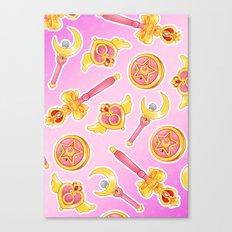 SAILOR MOON ITEMS PINK Canvas Print