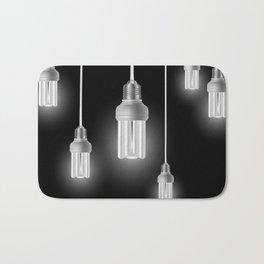 Energy saving bulbs with cords Bath Mat