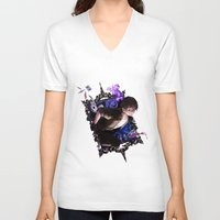 iris V-neck T-shirts featuring Iris by Velocesmells