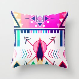 Bohemian Rhapsody In Pink Throw Pillow