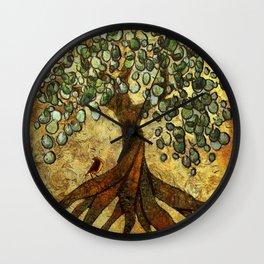 Twisted Oak Tree Wall Clock