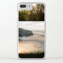 Peace + Freedom Panoramic Clear iPhone Case