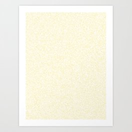 Spacey Melange - White and Blond Yellow Art Print