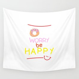 Donut Worry Wall Tapestry