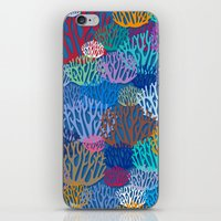 coral iPhone & iPod Skins featuring Coral by Helene Michau