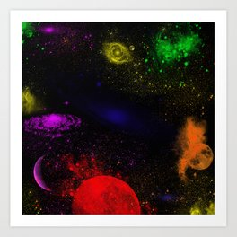 Boundless Space Collection Art Print
